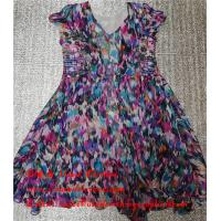Best Hebei Factory Stock Second Hand Ladies Dresses Used Printed Pure Silk Skirt wholesale