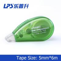 Best Green Mini Correction Tape , PET Colored Eco Friendly Staples Correction Tape wholesale