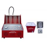 China Petrol Fuel Injector Cleaning Machine Red Color 60*60*42cm 230W FCC Approved on sale