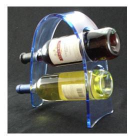 China Transparent Acrylic Wine Bottle Display Rack , Plexiglass Bottle Holder on sale