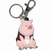 Best Pig Shaped Plastic Keychain, Made of Soft PVC, Measures 40 x 30 x 35cm wholesale