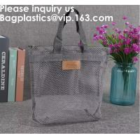 Best Eco Friendly Tote Mesh Shopping Bag Nylon Mesh Net,Reusable Mesh Produce Bags Larger Capacity Grocery Shopping Storage F wholesale