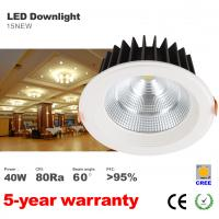 Best Dimmable 40W LED Downlight High lumens CREE COB 3400LM Recessed LED Down light wholesale