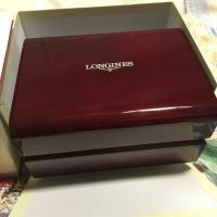 Cheap HIGH GRADE LONGINES BRANDED HIGH GLOSSY WOODEN WATCH BOX WITH 2 SLOTS for sale
