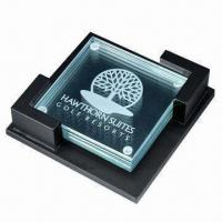 Best Glass Coaster with Customized Logo, (Cork Coasters Also Available) wholesale