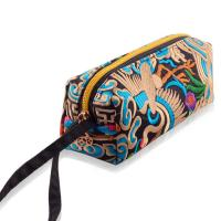 Best wholesale canvas embroidery stationery colored pencil set cosmetic bag wholesale