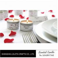 Best Silver And Golden Color Beautiful Scented Candles , Soy Wax Small Tin Candles wholesale