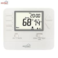 Best White Backlight Multi Stage  HVAC FCU Programmable Gas and Electric Digital Heating Room Thermostat wholesale