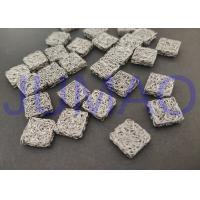 China Square Stainless Steel Knitted Mesh 3.7 Mm Height For Shielding Cleaning Damping on sale