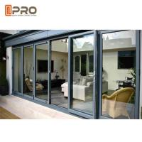 China Multi - Panel Aluminum Folding Doors For Residential Energy Efficient on sale