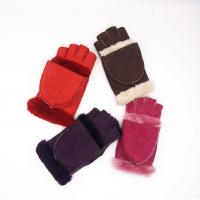 China Multifunctional Sheep Skins Leather Mittens Touch Screen With Fingers on sale