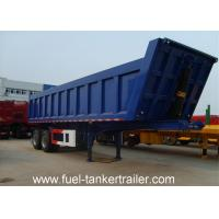 Best Hot sale 2 axles U shape end dump trailer/rear tipping trailer/tipper trailers with HYVA cylinder wholesale