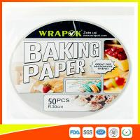Round Silicone Baking Paper Sheets , Greaseproof Non Stick Paper For Baking