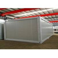 Best White Steel Structure Living Container House , Portable Living Containers With Power Facilities wholesale