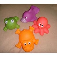 Best Soft Bath Rubber Squirt Water Toy Floating Ocean Animal Shaped 10cm Width wholesale