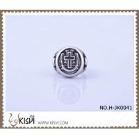 Best Hot Selling 316l Stainless Steel Cross Ring with Competitive Price H-JK0041 wholesale
