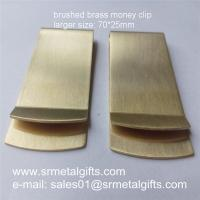 Best Retro brushed brass money clip wallets, 70x25x1mm thick brass money clips ready mold wholesale