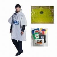 Best PE Waterproof Poncho, Various Sizes are Available wholesale