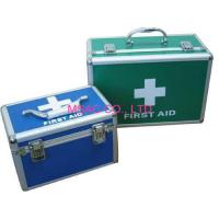 China Blue Aluminum First Aid Kit Boxes / Doctor Cases With Lock , Fireproof Panel on sale