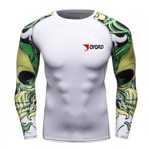 China MMA Sports Custom Swim Rash Guards  Digital Sublimation Printing Classical Collar on sale