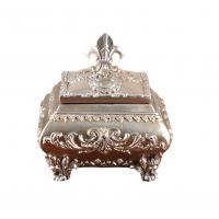 Best Attractive Ornate Silver Resin Trinket Box For House Decoration 15x12x12 Cm wholesale