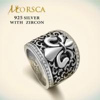 China Morsca Handmade 925 Sterling Silver Jewelry Rings on sale