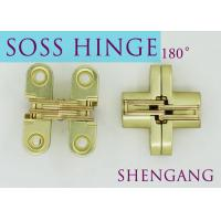 Best Satin Brass Soss Stainless Steel Concealed Hinges , Wings measure 3/8 Wide x 1-11/16 Long for 1/2 , SOSS #101 wholesale