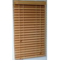 Cheap 50mm 100% basswood venetian blinds for windows with steel high headrail and wooden bottomr for sale