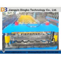 Best Roofing Sheet Roll Forming Machine With Speed 10 - 15m / min For Construction Material wholesale