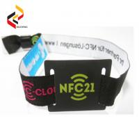 Best Adjustable Passive RFID Wristband Price Fabric RFID Wristband Bracelet NFC NTAG213 Waterproof Smart RFID Band wholesale