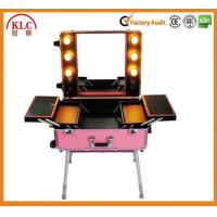 Buy cheap ABS aluminum materail case makeup case with handle lights and mirror with best from wholesalers