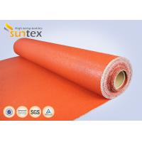 Best Texturized Heavy Duty Insulation Silicone Coated Fiberglass Fabric Roll Fireproof wholesale