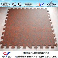 China Indoor/outdoor rubber tile rubber paver interlocking rubber tile on sale