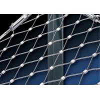 China Anti - Rust SS316 Wire Rope Mesh , Wire Rope Netting For Protection Use on sale