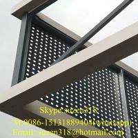 Best 1/4 inch perforated aluminum sheet round hole / metal panels perforated building wholesale