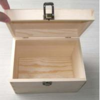 Best Wooden gift box made in pine wood, hinged & clasp type, natural finish wholesale