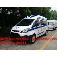 China 2017 best seller  Euro 5 diesel emergency ambulance bus for sale, factory sale best price ICU ambulance vehicle on sale