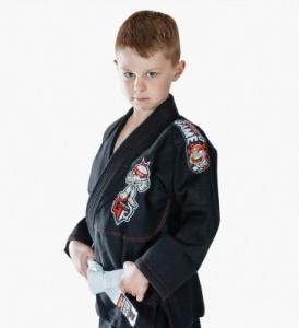 Best Custom Black BJJ Gi Kimono Martial Arts Suit / Karate Clothes For Kids wholesale