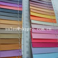 China Smooth PU Synthetic Leather / PVC Synthetic Leather Material For Making Bags on sale