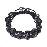 Best 2012 hot selling black crystal beaded bracelets CJ-B-167 for anniversary, gift, party wholesale