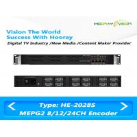 Best 8 / 12 / 24 CVBS Inputs Digital TV Encoder Suppport  MPTS SPTS IP Output with Advertisement wholesale