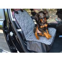 China Polyester Single Front Pet Car Seat Covers Leopard Adjustable Bucket on sale