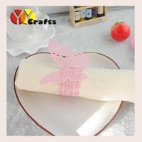 Best Pink butterfly wedding napkin rings for hotel , Butterfly Paper Napkins wholesale