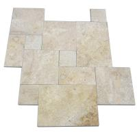 China Honed Travertine Natural Slate Wall Tile , Rough Natural Stone Bathroom Tiles 12 X 6 on sale