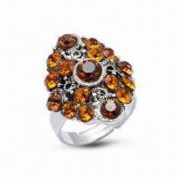 Best Ring, Made of 925 Sterling Silver, Decorated with CZ Stone wholesale