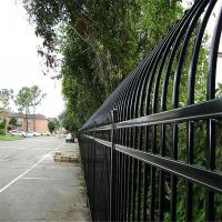 China Security Spear Top Tubular Steel Fence Panel And Swing Gate Corrosion Resistance on sale