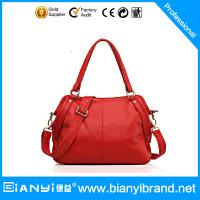 Best 2015 women genuine leather tote bag / leather lady hand bag wholesale