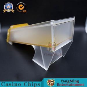 China 6-8 Deck Golden Acrylic Frosted Casino Poker Card Shoe , Poker Dealer Set on sale