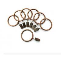 Best Portable Set of 14 1.5inch Copper Curtain Rings with Clips & Hooks for Bathroom Shower Rod wholesale