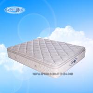 Best Anti-bacterial Latex Bonnell Pillow Top Mattress Topper , Coil Mattress With Golden Pattern wholesale